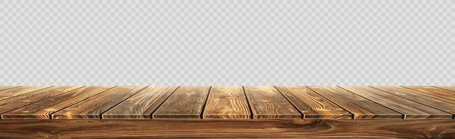 Large table top, wooden texture from boards vector