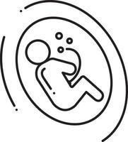 Line icon for fetus vector