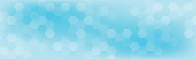 Hexagons of different sizes on a blue background - Vector