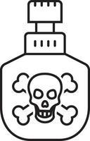 icono de línea de veneno vector