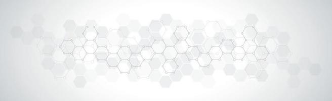 hexágonos sobre fondo blanco gris - ilustración vectorial vector