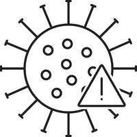 Line icon for alert vector