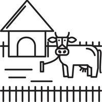 icono de línea para ganadería vector