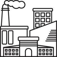 icono de línea para industrial vector
