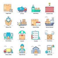 servicios logísticos modernos vector