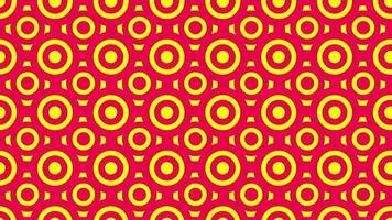 fundo animado com padrão de círculos vermelhos e amarelos