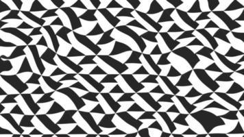 fundo animado com triângulos ondulados em preto e branco