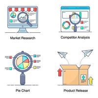 elementos de finanzas y marketing vector