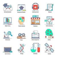 Learning and Education Elements vector