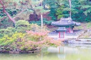 Palacio Changdeokgung en la ciudad de Seúl, Corea del Sur foto