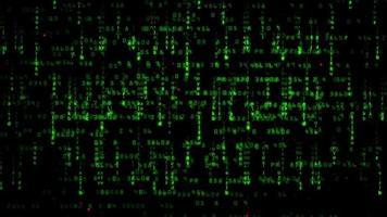 Hacker-Style Green Matrix Numerals Abstract Background video