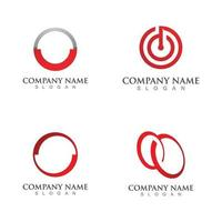 abstract red circle logo vector template