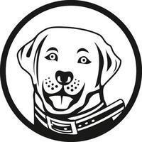 Dog head character illustration vector