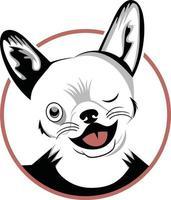 Funny dog head character illustration vector