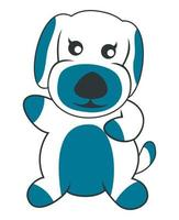 Sweet dog mascot character illustration vector