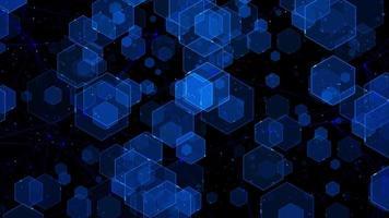 fondo digital hexagonal azul video