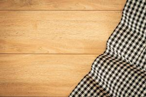 Kitchen cloth on wood table photo