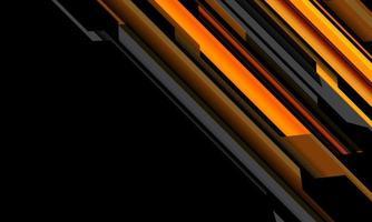 Circuito cibernético gris naranja amarillo abstracto en diseño de espacio en blanco negro ilustración de vector de fondo de tecnología futurista moderna.