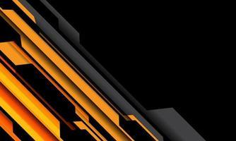 Resumen amarillo naranja gris circuito cibernético sin diseño de espacio en blanco negro ilustración de vector de fondo de tecnología futurista moderna.