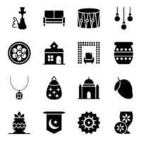 evento cultural y accesorios vector