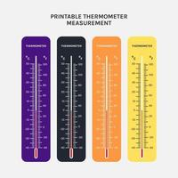 printable of thermometer use for measurement of air temperature, body and other measurement purposes