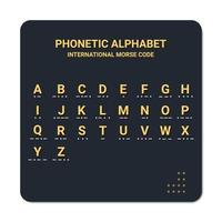 phonetic alphabet and international morse code suitable used for maritime and aviation. education and printing vector