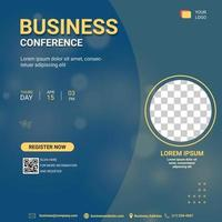 webinar social media post template. Banner promotion. Business strategy in covid-19 pandemic