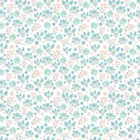 cute floral pattern. Pretty spring flowers on white background. Printing with small summer pink, purple, blue flowers. Ditsy print. Seamless vector texture. elegant template for fashionable printers.