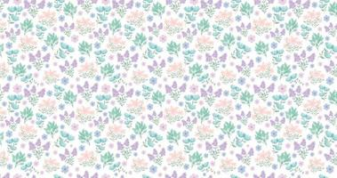 cute floral background. Pretty small flowers on white background.  small pink, purple, blue flowers.Spring flowers. Summer flowers. vector
