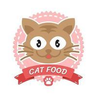 Pet shop logo design, pets shop cats domestic animals vector