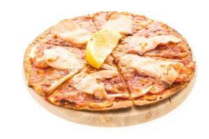 Pizza smoked salmon photo