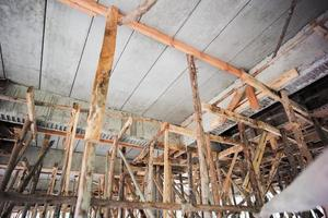 Perspective of structure inside the house under construction photo