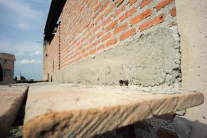 Textura y fondo de albañil y estructura de muro de hormigón. foto