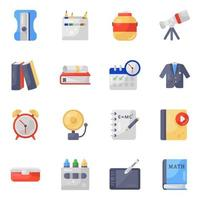 Learning Equipment and Stationery vector