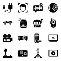 Electronic and Technology Devices icon set vector