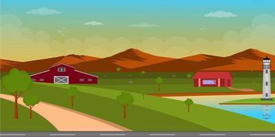 Landscape Background Design vector