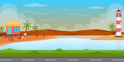 summer template background landscape vector