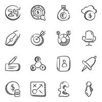 Business and Finance Element icon set vector