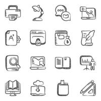 Elearning and  Virtual Learning icon set vector