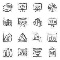 gráficos, cuadros e informe comercial vector