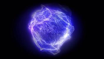 efeito azul claro rodou em um círculo com fundo preto. video