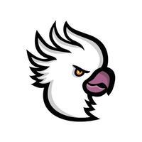 Crested cockatoo head vector