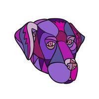 Labrador Retriever Dog Head Color Mosaic vector