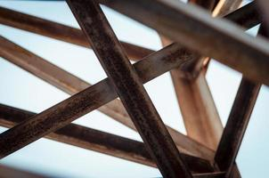 Crossing wooden beams photo