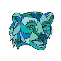 Grizzly Bear Head Mosaic vector