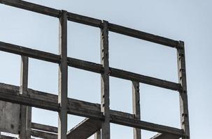 Concrete frame at construction site photo