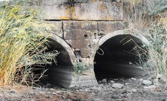 Two underground pipes photo