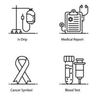 Medical And Healthcare Elements icon set