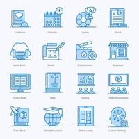 Education and Fine Arts icon set vector