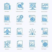 Graphs ,charts and Business Report icon set vector